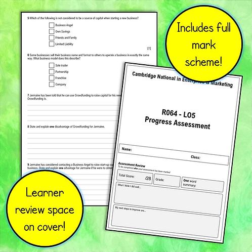 R064 LO5 Test / Progress Assessment