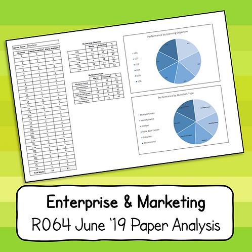 R064 June 2019 Paper Analysis