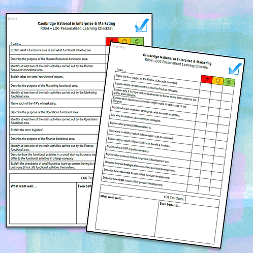 R064 Personalised Learning Checklists (ALL LOs)