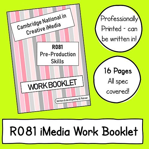 Creative iMedia R081 Work Booklet (Professionally Printed)