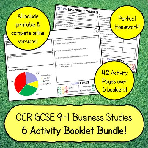 OCR GCSE Business Studies Activity Booklet Bundle (6 Booklets)