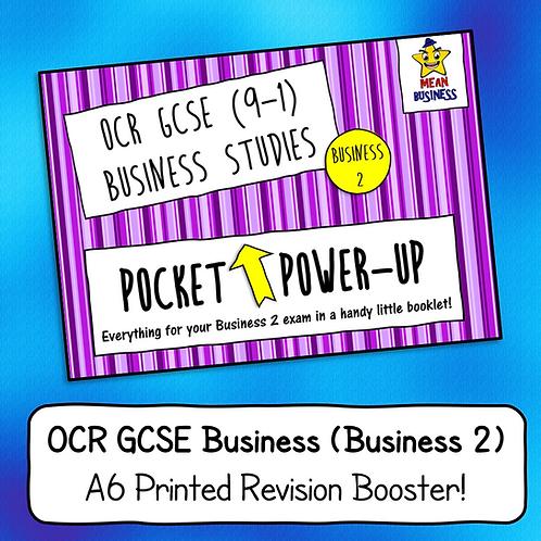 "OCR GCSE Business 2 (J204) ""Pocket Power-Up"" - A6 Revision Notes Booklet"