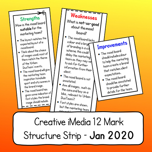 R081 - 12 Mark Structure Strip (January 2020 Paper)