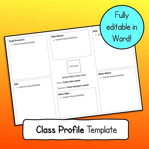 Class Profile Template (fully editable)