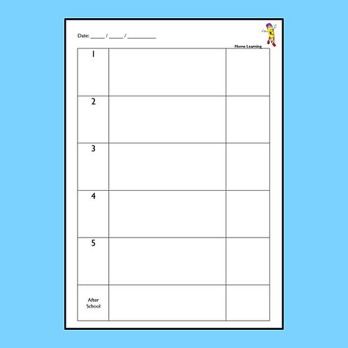 Teacher's Day Planner (5 periods)