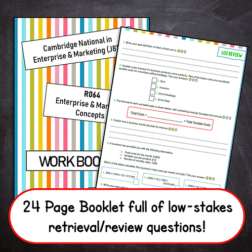 R064 Student Work Booklet (Professionally Printed)