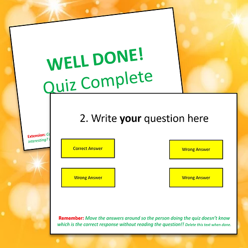 Create a Quiz Template (in PowerPoint)