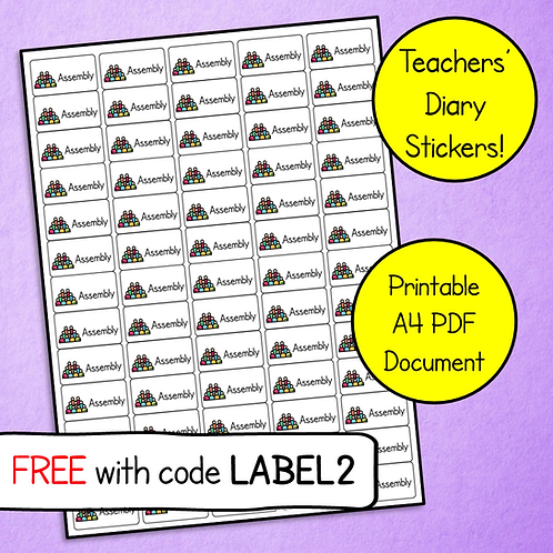 Assembly Teachers' Diary Stickers (Download & Print)