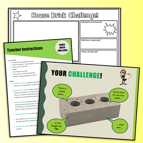 House Brick Challenge - Business/Primary Induction Lesson