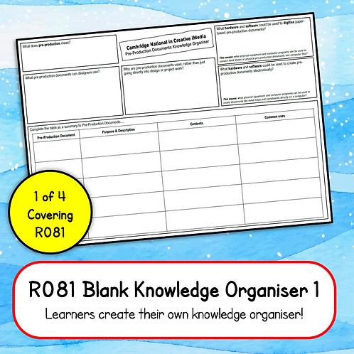 R081 Blank Knowledge Organiser 1 (Printable OR Complete Online)