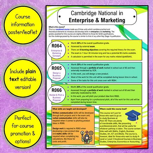Enterprise & Marketing Options Poster/Leaflet