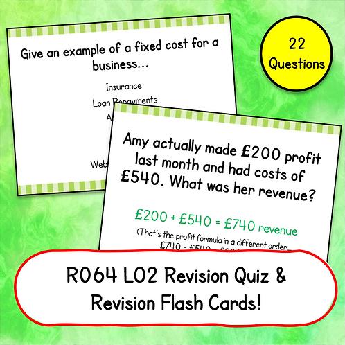 R064 LO2 Revision Quiz / Flash Cards