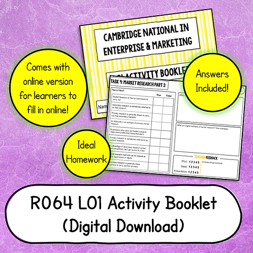 R064 LO1 Activity Booklet (Printable or Host/Complete Online)