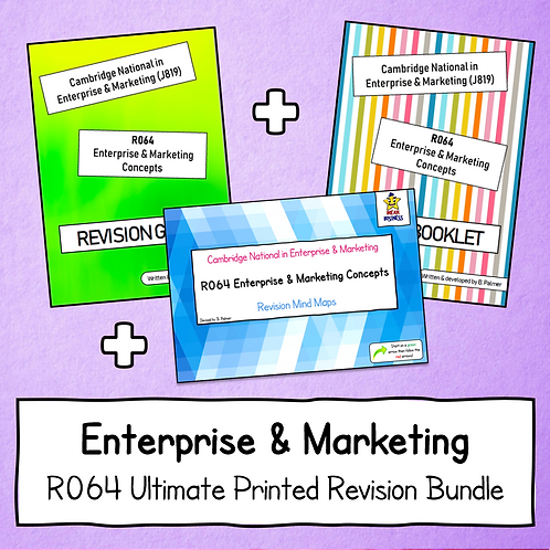 R064 Ultimate Printed Revision Bundle (Guide + Work Booklet + Mind Maps)