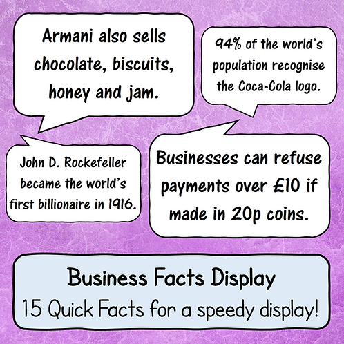Business Facts - Quick Display!