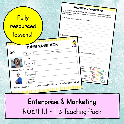 R064 1.1 - 1.3 Teaching Pack (Segmentation)