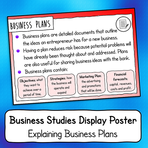Explaining Business Plans Poster / Handout