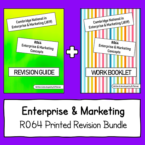 R064 Printed Revision Bundle (Revision Guide + Work Booklet)