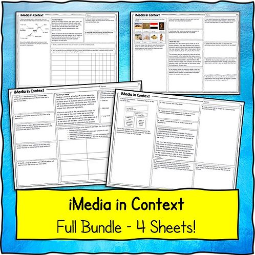 iMedia in Context Bundle (4 scenarios / sets of questions)