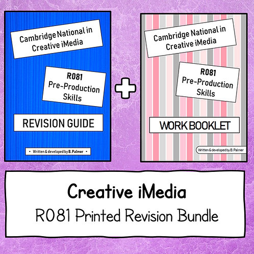 R081 Printed Revision Bundle (Revision Guide + Work Booklet)