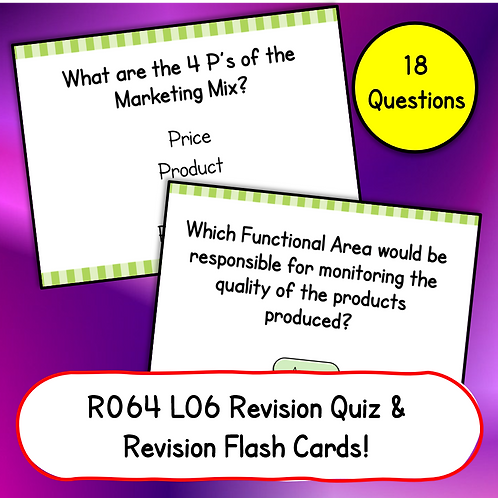 R064 LO6 Revision Quiz / Flash Cards