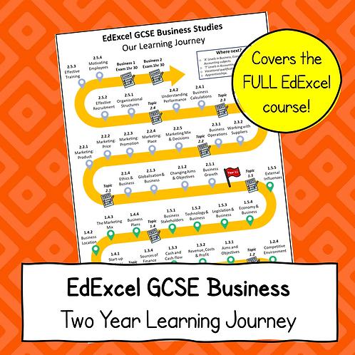 EdExcel GCSE Business Studies Learning Journey