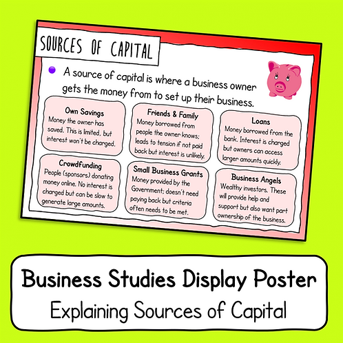 Explaining Capital Poster / Handout
