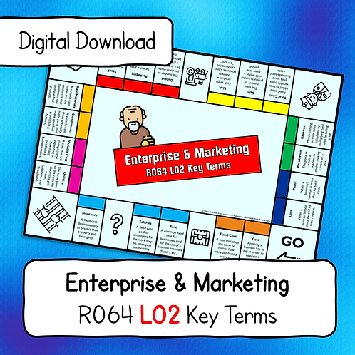 R064 LO2 Key Terms Display Poster / Handout