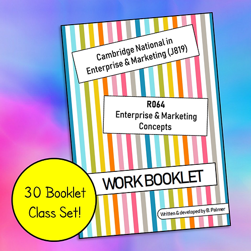 R064 Student Work Booklet (Class Set of 30)