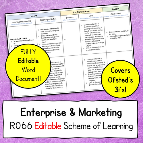 R066 Editable Scheme of Learning Document