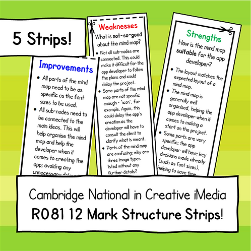 R081 12 Mark Structure Strips Bundle (5 Structure Strips)