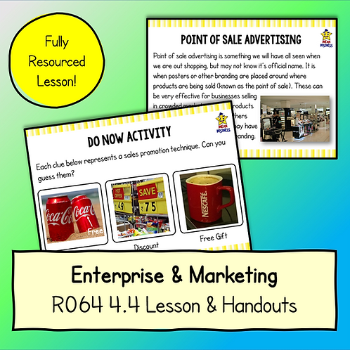 R064 4.4 Teaching Pack (Sales Promotion Techniques)