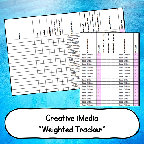 "Creative iMedia ""Weighted"" Grade Estimator Spreadsheet"