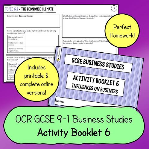 OCR GCSE Business Studies Activity Booklet 6 (Influences on Business)
