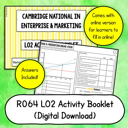 R064 LO2 Activity Booklet (Printable or Host/Complete Online)
