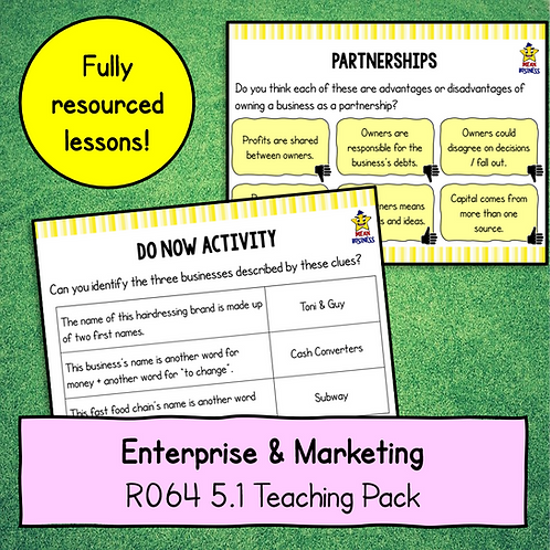 R064 5.1 Teaching Pack (Business Ownership + Franchises)