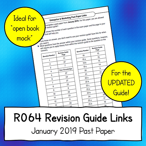 R064 January 2019 Exam Linked to Updated Revision Guide (Free)