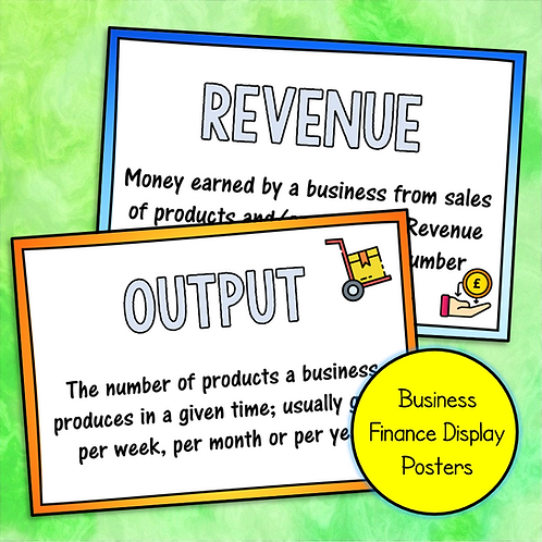 Business Finance Display Posters (Download & Print)