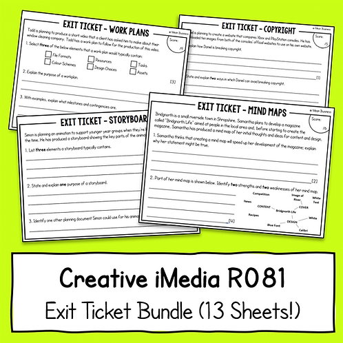 Creative iMedia Exit Tickets Bundle (13 Topics!)