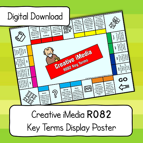 R082 Key Terms Display Poster / Handout