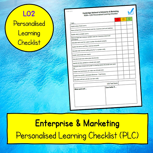R064 LO2 Personalised Learning Checklist (PLC)