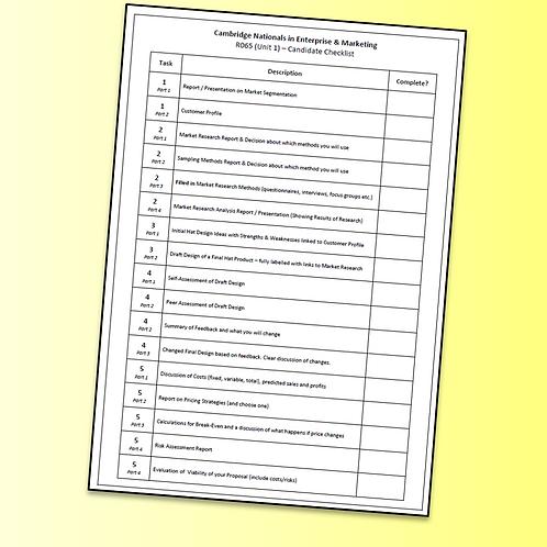 R065 Candidate Checklist - Progress Ahead (Free)