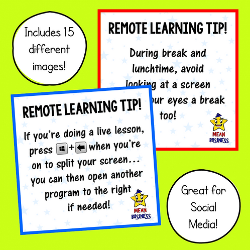 15 x Remote Learning Tips!