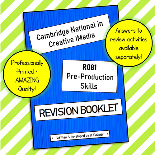 Creative iMedia R081 Revision Guide (Professionally Printed)