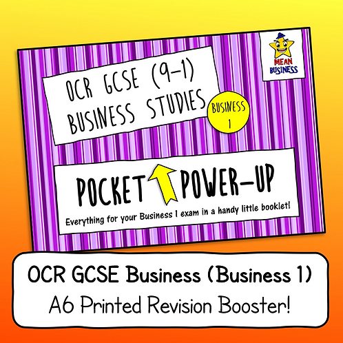 "OCR GCSE Business 1 (J204) ""Pocket Power-Up"" - A6 Revision Notes Booklet"