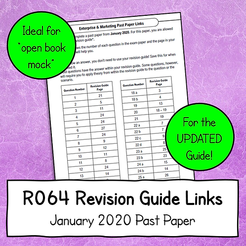 R064 January 2020 Exam Linked to Updated Revision Guide (Free)