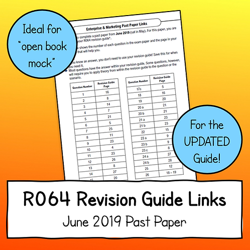 R064 June 2019 Exam Linked to Updated Revision Guide (Free)