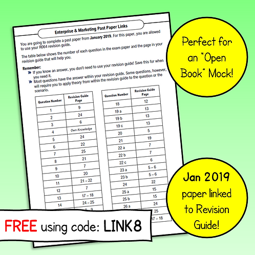 R064 January 2019 Exam Linked to Revision Guide (Free)