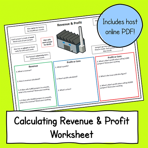 R064 LO2 - Calculating Revenue & Profit Sheet