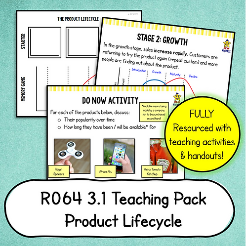 R064 3.1 Teaching Pack (Product Lifecycle)